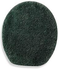 Green Toilet Lid Cover Elongated Fun Soft Top Non Slip Plush Nylon Washable Bath