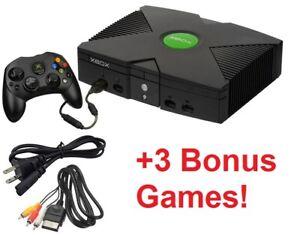 Microsoft Original Xbox Console Controller Cords Games System Bundle Refurbished