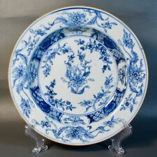 Fine Antique Chinese Export Porcelain Soup Plate Bowl Blue and White 18C Qing