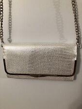 Nine West Silver Snake Small Shoulder Bag