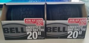 """""""Bell 20"""" Freestyle BMX Bicycle Tires Air Guard Anti Puncture 1 Pair"""