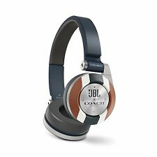 JBL Coach Limited Edition On-Ear Bluetooth Headphones Navy Blue/Brown New