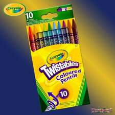 Crayola Twistables 10 Coloured Pencil Crayons - 10 Twist Up Coloured Pencils