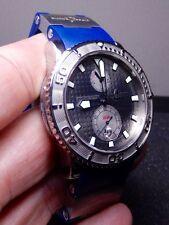 Ulysse Nardin Maxi Marine Diver Rhodium Dial 99% LNIB RARE $7800 List Gray Dial