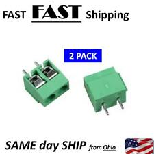2 PACK --- 2 Pole 5mm Pitch PCB Mount Screw Terminal Block 8A 250V
