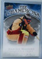 2009-10 Upper Deck The Champions #CH-JB Jean-Luc Brassard Freestyle Skier Canada