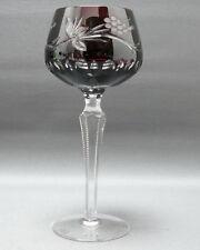 Kristallglas, Römer,Rubinroter Überfang, Schälschliff,gekerbter Schaft, 20,3 cm