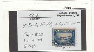 "1914 Used 5ct Blue ""Gloden Gate"" Panama-Pacific #403 Perf 10 SCV=$20"