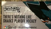 Cheer Card Authentic Fan NHL San Jose Sharks Round 2 vs Golden Knights New SGA.