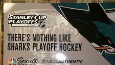 Cheer Card Authentic Fan NHL San Jose Sharks Round 2 vs Golden Knights New SGA.