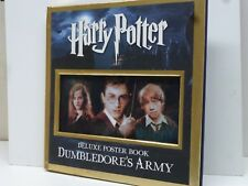 Harry Potter Dumbledore's Army Deluxe Poster Book Hard Cover w/ Gold Leaf Edges