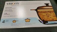 VISIONS 4-pc glass amber Cookware Set, bake, stove, glass top stove, oven, bake