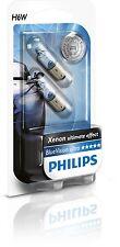 2 Bombillas Philips BlueVision Ultra H6W Xenon Blue Vision Lamparas Señalizacion