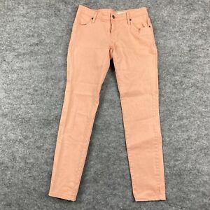 Sass & Bide Womens Jeans Size 26 Peach Pink Slim Leg Zip Vintage Pockets 137.08