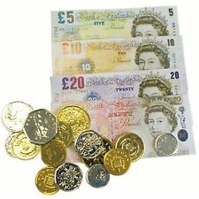 Childrens Play Toy Money Set Kids Pretend Coins Notes Fake £ Pounds for 3+ years