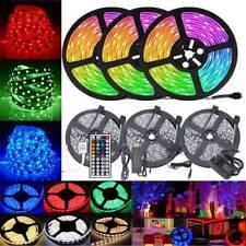 5M 10M 20M LED Light Strip RGB 5050 SMD Waterproof + 44 Key IR Remote Controller