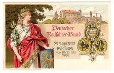 POSTCARD GERMAN 1906 NUREMBERG GERMAN BICYCLE SOCIETY FESTIVAL