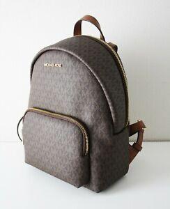 Michael Kors Backpack Bag Erin Md Backpack Signature Brown Braun