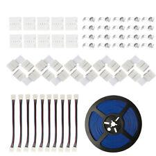3528 5050 RGB LED Tira Luces Accesorios De Cable De Extensión Conector Forma de L