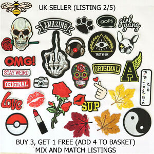 Fashion Patches Sew Iron On Patch Clothes Applique Badge Craft Individual Bag