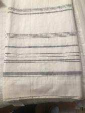 Hearth & Hand Engineered Stripe Curtain Panel Gray Sour Cream 54 x 95