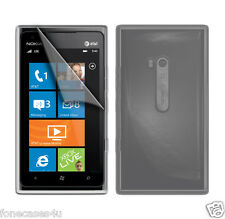 3 FREE screen Guards and clear gel case for Nokia Lumnia Lunia Lumia 900 phone