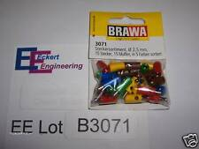 EE B3071 NEW Plugs Sockets for Marklin HO 30 Pieces Brawa 3071 Old Marklin Style
