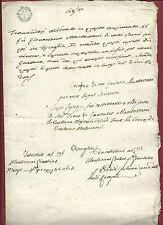 Manoscritto Napoleone in Italia Intestazione Eredità Massa Fiscaglia 1809 Raro