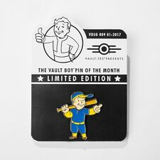 Fallout Vault Boy Limited Metal Pin Of The Month Big Leagues Perk - 3 4