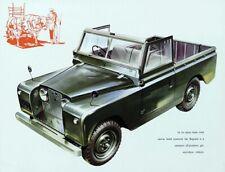 LAND ROVER 1957-1958 SERIES-I '88' RETRO POSTER BROCHURE CLASSIC ADVERT A3!