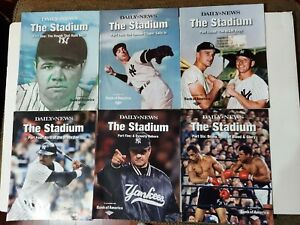 """Daily News Magazine """"The Stadium"""" Lot (6) NY Yankees Ruth Mantle DiMaggio Torre"""