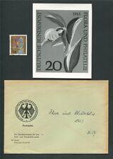 BRD FOTO-ESSAY 393 FLORA 1963 ORCHIDEEN ORCHIDS PHOTO-ESSAY PROOF RARE! e98