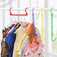1 Pc 5 Holes Wardrobe Hanger Storage Plastic Clothes Hanging Hook JD
