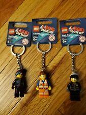 Lego Movie Keychains Lot Of 3 New