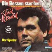 """Ted Herold Die Besten Sterben Jung 7"""" Single Vinyl Schallplatte 56922"""