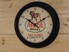 Mack Truck Driver Bulldog Service Bull Dog Advertising Sign Wall Clock