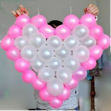 38 Grids Car Home Decor Heart Shaped Mesh Net Model Frame Balloon Holder WE9X