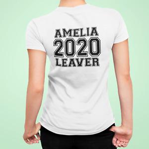 2020 School Leavers Personalised T-Shirt Top School Lockdown for Girls and Teens