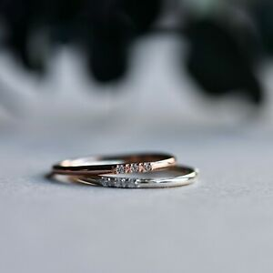 14k Rose Gold Vermeil Simple Band Ring, 925 Sterling Silver, Rose Gold Ring