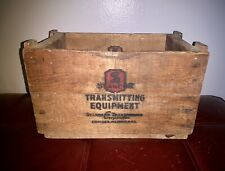Stancor Transformer Transmitter Amplifier Tubes Wooden Crate Advertising Box