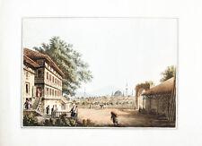 1809 Türkei Turkey Thrakien Kirklareli Lozengrad Kolorierte Aquatina-Ansicht