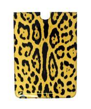 Nuevo Dolce & Gabbana Funda Tablet Ebook Funda Piel Amarillo Diseño de Leopardo