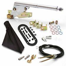 Floor Mnt E-Brake HandleBlack Boot, Blk Ring, Cable Kit, GM Clevis custom hot