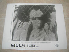 Billy Idol Heroin Video B&W 8x10 Promo Photo Picture Original