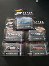 🔥 2017 HOT WHEELS FORZA MOTORSPORT SET FORD GT & PORSCHE &  BMW & PAGANI NICE🔥