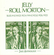 JELLY ROLL MORTON – BLUES AND RAGS FROM PIANO ROLLS 1924/1925 (1989 CD FRANCE)