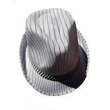 Hommes adultes Cowboy noir Gangster Lincoln velours Sequin Trilby Bowler chapeaux ■