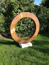 Garden sculpture decoration / outdoor modern metal art - Thick steel ring