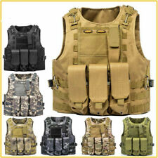 Tactical Vest Military Plate Carrier Molle Modular Sentry SWAT Assault Combat