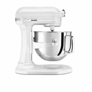KitchenAid KSM7581 500W Bowl-Lift Stand Mixer - Frosted Pearl